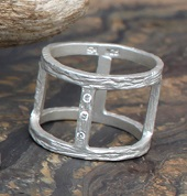 Square Cut Out Ring