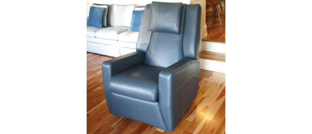 Contemporary Leather Rocker Recliner in Vermont