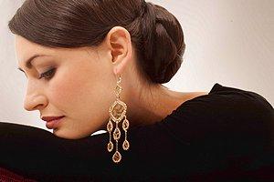 Jamie Kole Jewelry Gold Lace Earrings