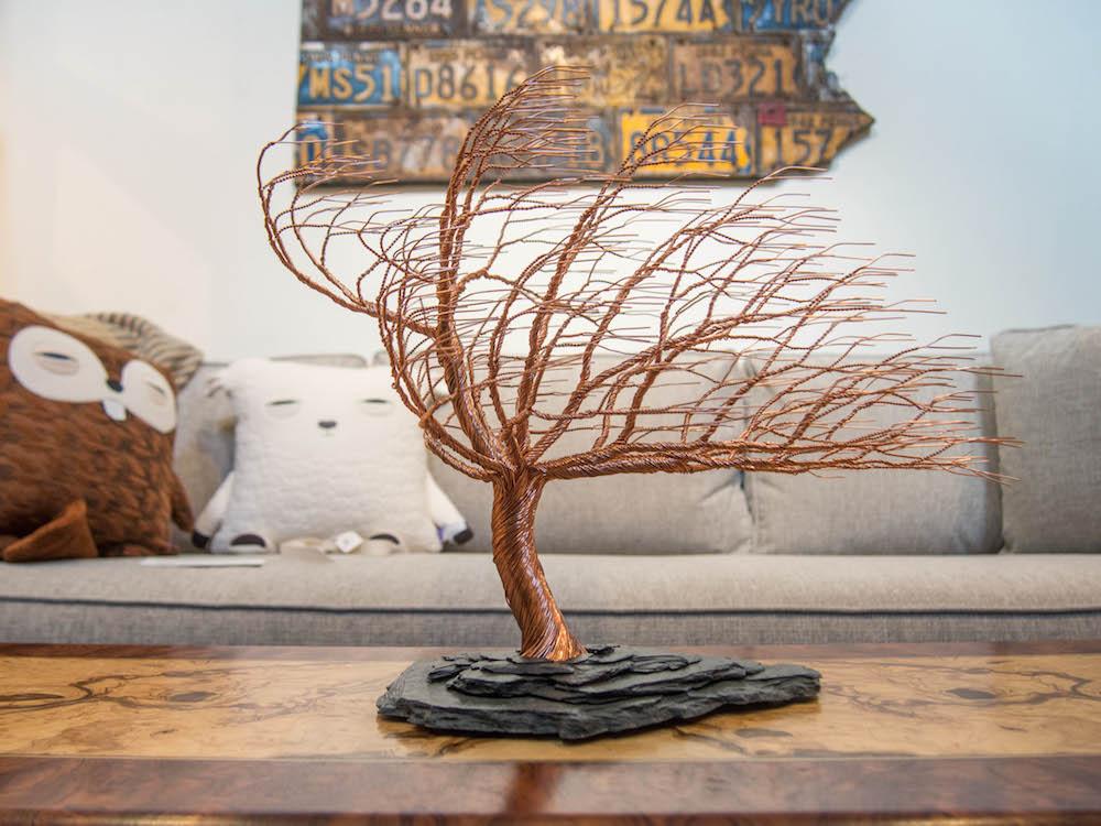 Randy Adams Wire Tree Sculpture