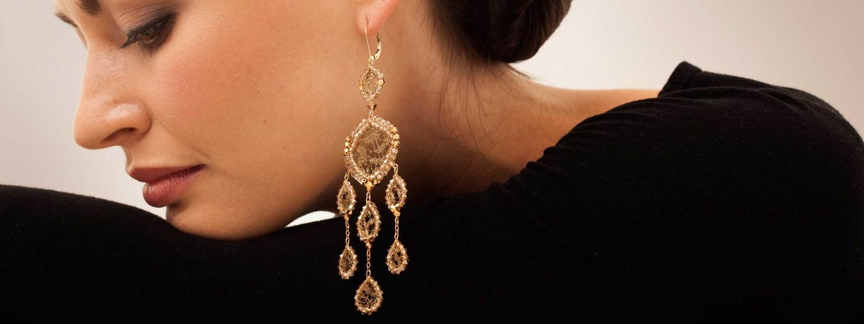 Jamie Kole Antique French Metal Lace Jewelry