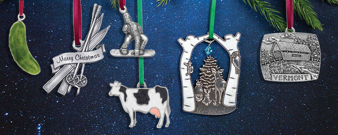 Vermont Made Holiday Ornaments at Stowe Craft