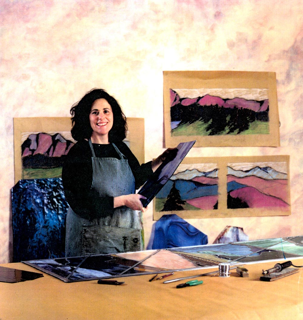 Susan Bayer-Fishman in her workshop in the 1980s