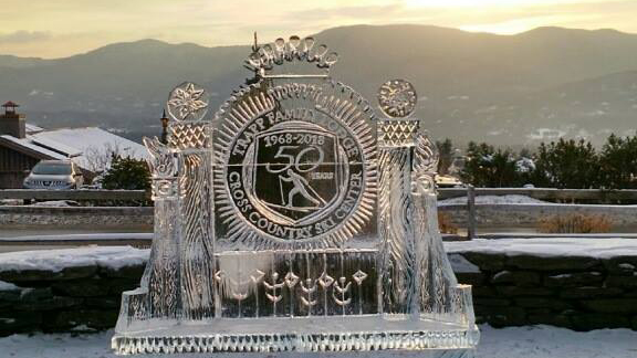 stowe winter carnival ice sculpture