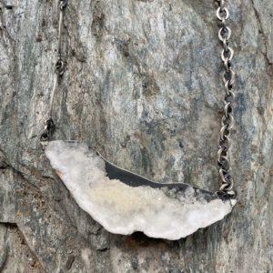 Terri Logan Quartz Geode Slice Pendant