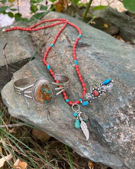 Jewelry by various Indigenous artists