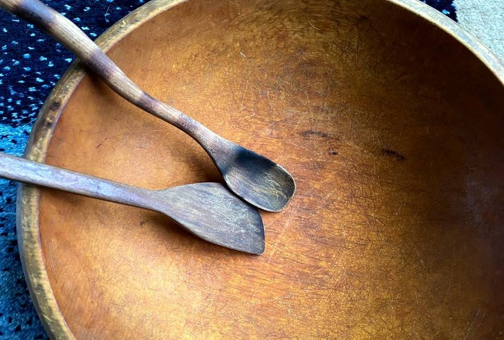 Bowl with Spoons- Marks - Memories