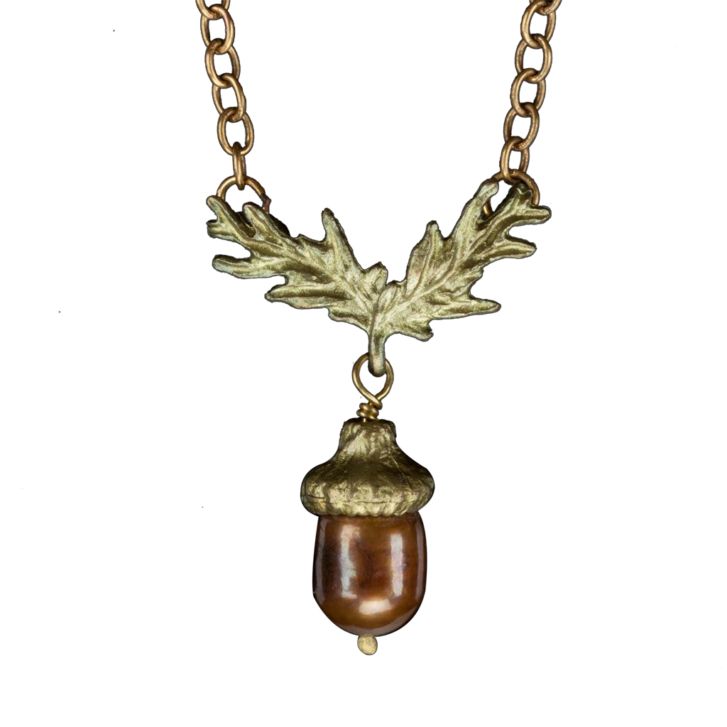 Acorn pendant necklace stowe craft gallery for Acorn necklace craft