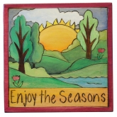 Enjoy the Seasons Summertime Plaque