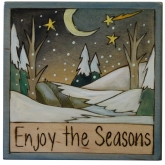 Enjoy the Seasons Winter Night Plaque